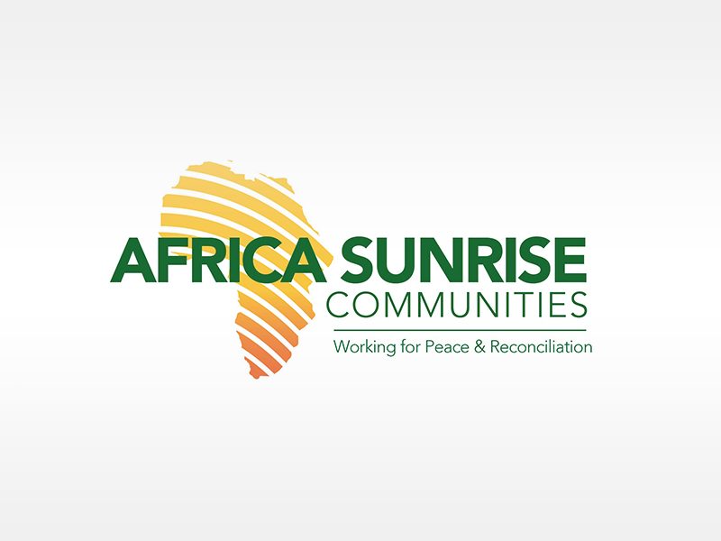 Africa Sunrise Communities logo designed by Two Cups Creative