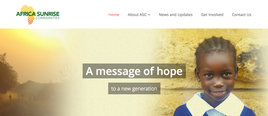 Africa Sunrise Communities Web Screenshot