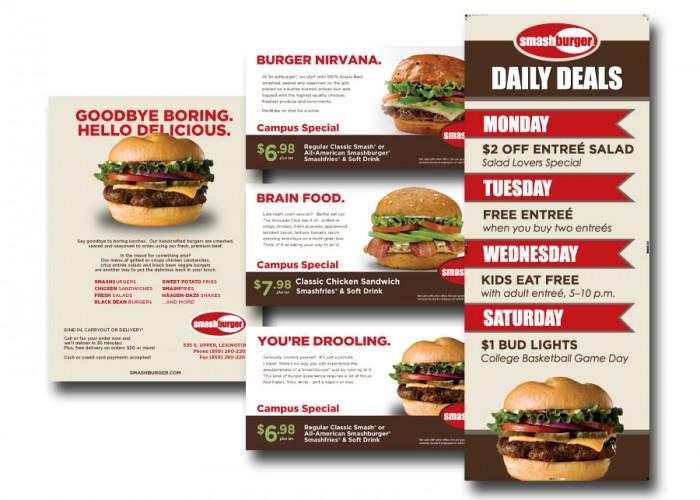 Smashburger marketing materials