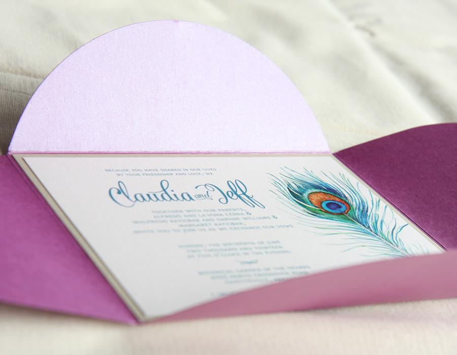 Claudia's Bridal Invitation