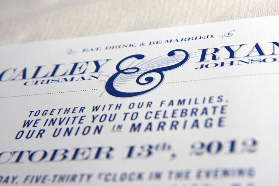 Bridal Invitation Calley