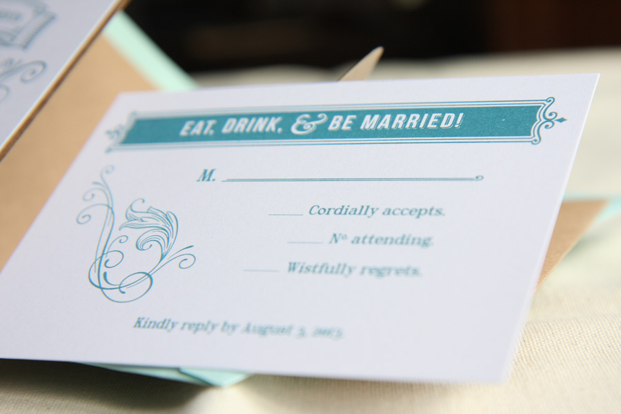 Nevada's Wedding Reply Card