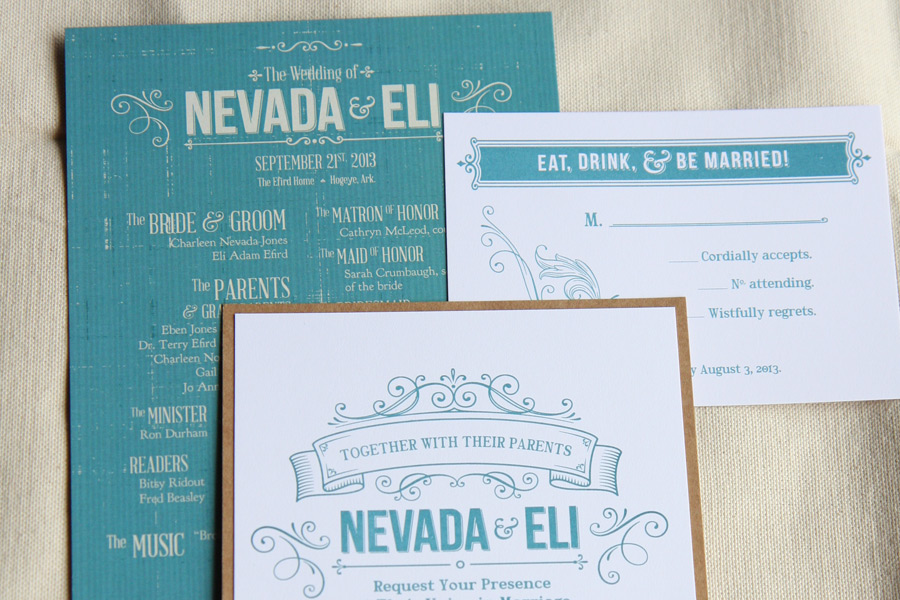 Nevada's Wedding Suite designed by Two Cup Creative